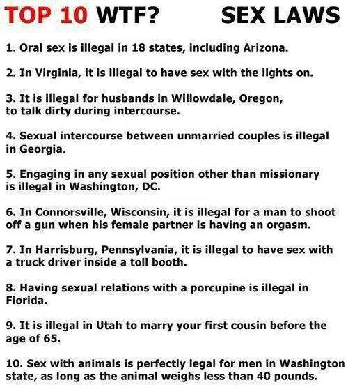 Ridiculous sex laws