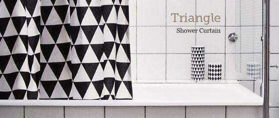 Cortina de ducha Triangle Shower Curtain de ferm LIVING en Ottoyanna