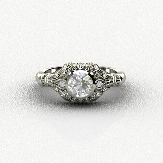 Diamond Vintage Look Engagement Rings ***(FOR DISCOUNT USE COUPON CODE: PramodWBMKD)***