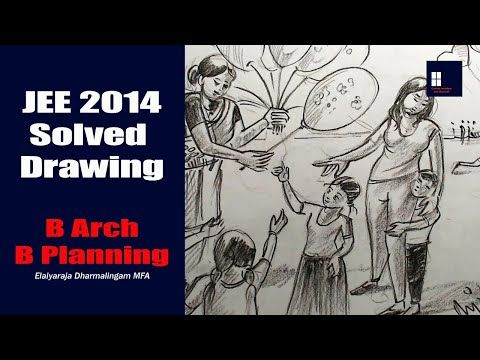 Jee Main 2014 Solved Drawing B Arch B Planning Youtube Architecture Sketch Drawings Architecture Drawing