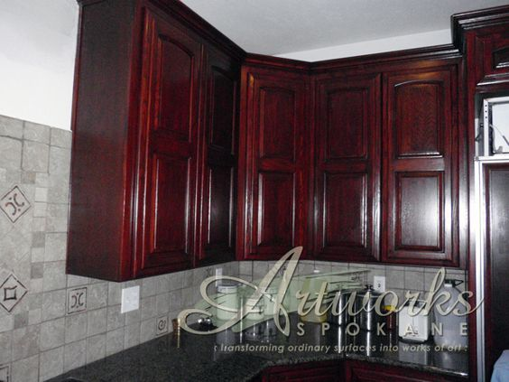 1980 39 s oak cabinets refinished with layered glazes to for 1980 kitchen cabinets