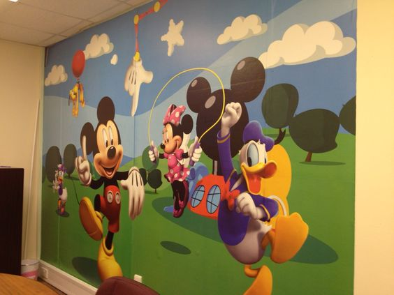 mickey mouse clubhouse huge wall mural see our range. Black Bedroom Furniture Sets. Home Design Ideas