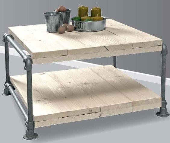 Tafel doe het zelf voorbeeld om van steigerbuis en steigerhout te maken steigerhout - Deco halloween tafel maak me ...