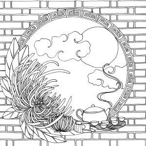 Art th rapie g teau de lune and coloriage on pinterest for Moon festival coloring pages