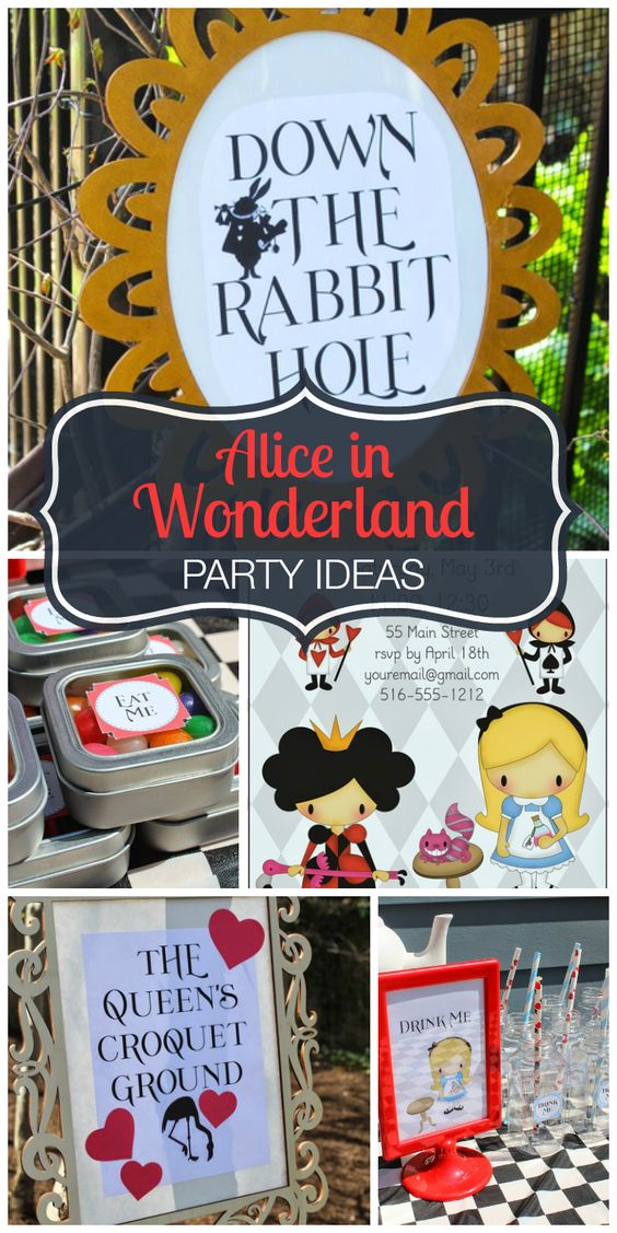 Magical decorations and ideas at this Alice in Wonderland girl birthday party! See more party ideas at CatchMyParty.com!: