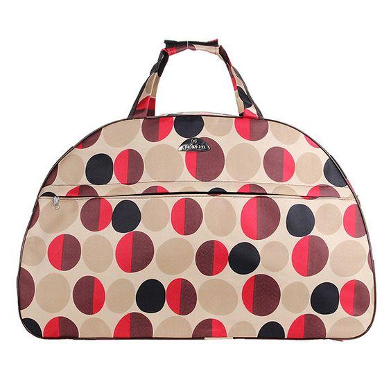 Waterproof Retro Print Travel Handbag