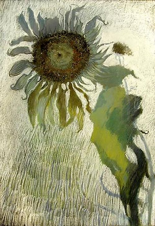 ymutate:  JIMMY WRIGHT, Sunflower in Grey and Green no.1, 2008Pastel on paper29 x 201/2 inches,found atdcmooregallery.com