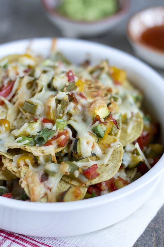 Vegetarische nachoschotel -- Ook lekker zonder chips!