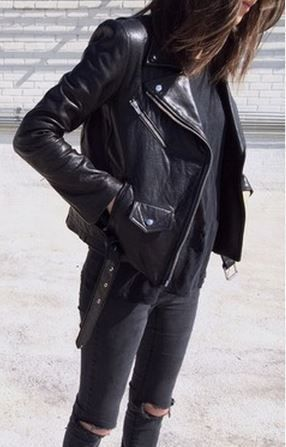 #street #style all-black + leather @wachabuy: