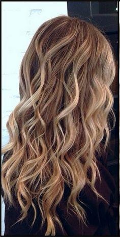 blonde highlights on dark brown hair - Google Search