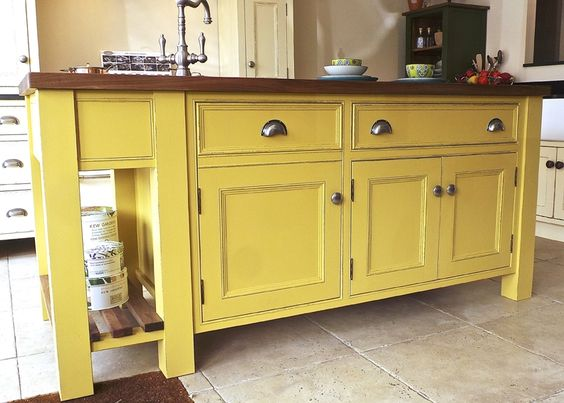 Free Standing Kitchen - Cabinets that are movable like furniture ...