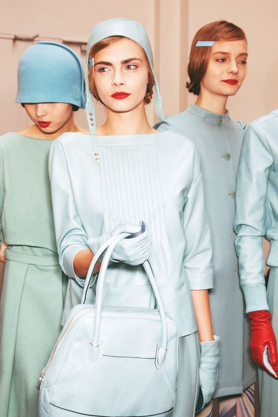 backstage at Cacharel, fall/winter 2012