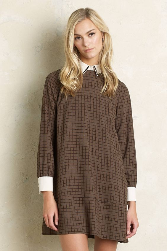 Bailey Checked Dress - anthropologie.com