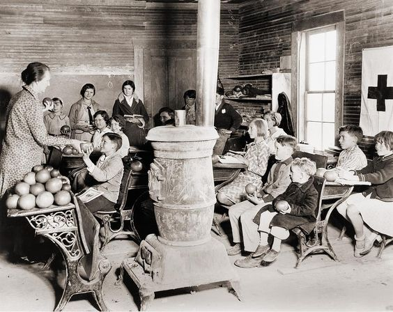Students In A One-room School, USA... early 1900s