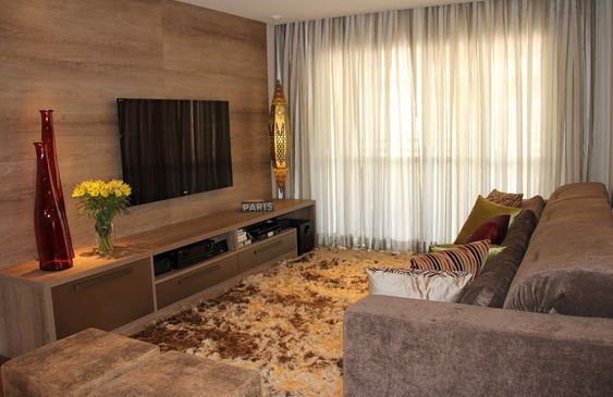 Construindo minha casa clean tipos de cortinas for Salas modernas de casas