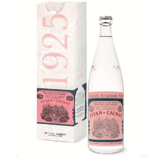 Packaging of the World: Creative Package Design Archive and Gallery: evian® 1925 Vintage Bottle