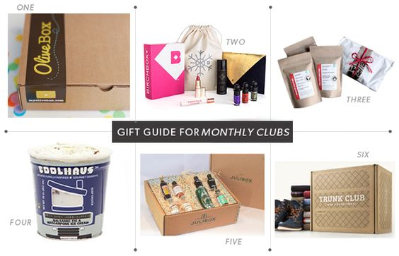 Gift Guide for Monthly Clubs