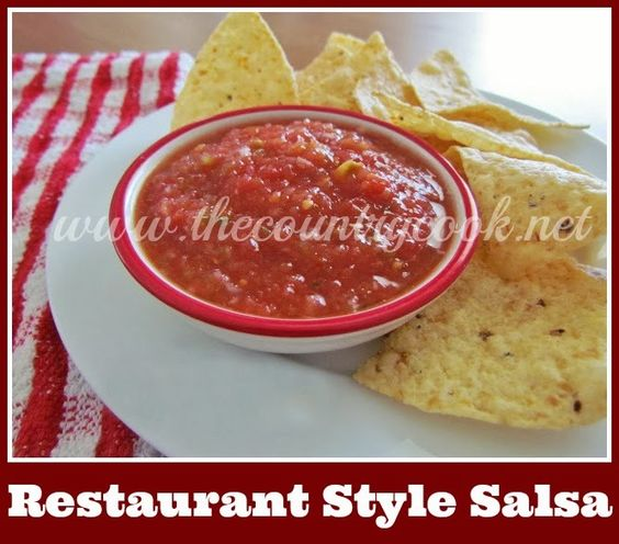 Restaurant Style Salsa | Restaurant Style Salsa, Country Cook and ...