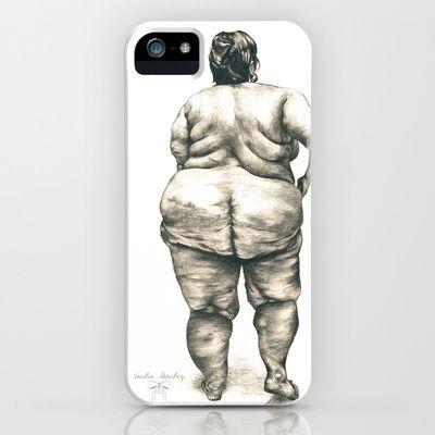 mujer en la ducha iPhone & iPod Case by Cecilia Sánchez - $35.00