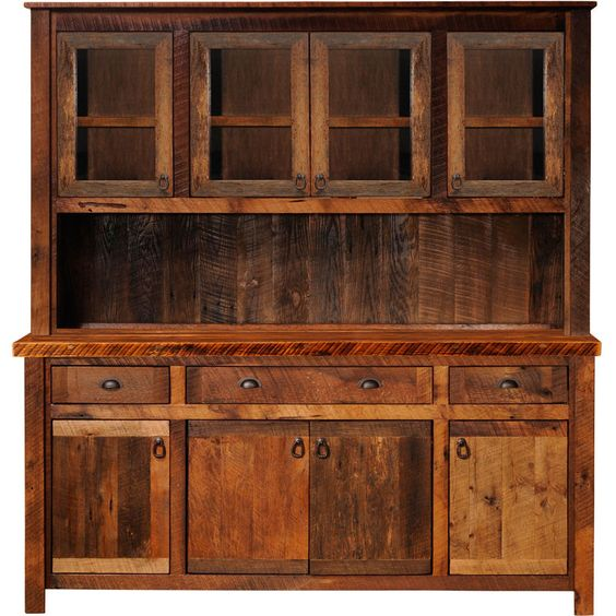 Rustic Kitchen Cabinets The Glass And Cabinets On Pinterest