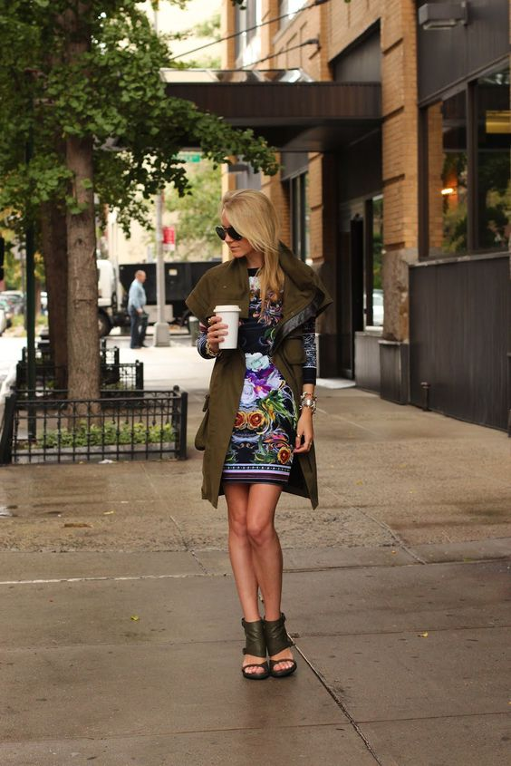Such a fantastic outfit - complex, lots of prints and texture, but it all works together.