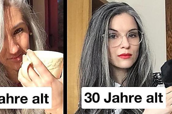 Graue haare mit 30 frau
