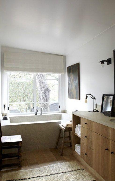 Modern Full Bathroom with Simple Granite, Flush, Mohawk Hardwood Artiquity 7 1/2 Inch Uniclic Medieval Oak, Undermount sink