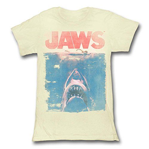 Jaws 1975 Movie Great White Shark & Swimmer Classic Poster Faded Junior T-Shirt 2Bhip http://www.amazon.com/dp/B00PB6HC0Y/ref=cm_sw_r_pi_dp_bKavvb1CZ68Q1