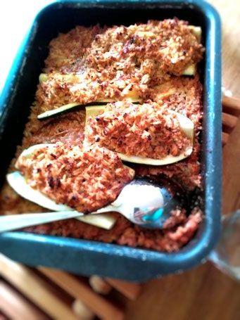 Zucchetti-Hackfleisch-Reis Schiffchen aus dem Thermomix