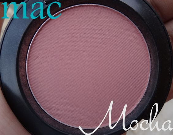 MAC Mocha Blush...Neutral dusty plum/pink blush that imparts the prettiest flush on your cheeks.