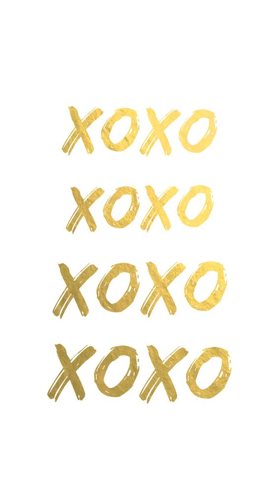 Xoxo gold - background, wallpaper, quotes Made by
