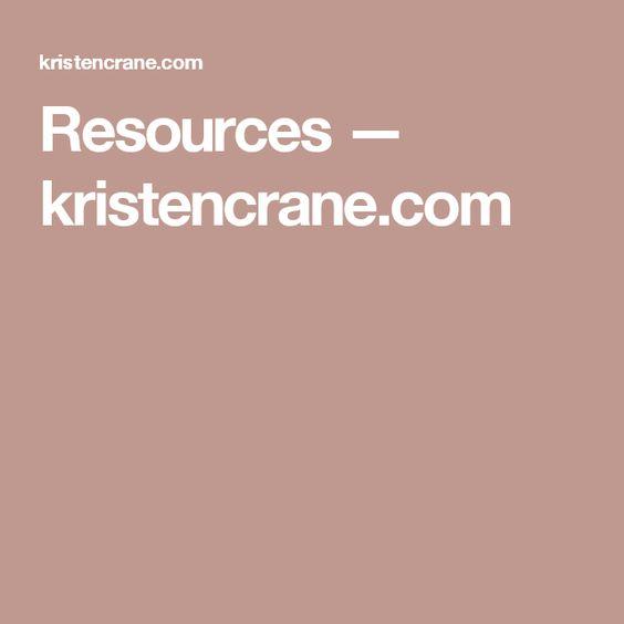 Resources — kristencrane.com
