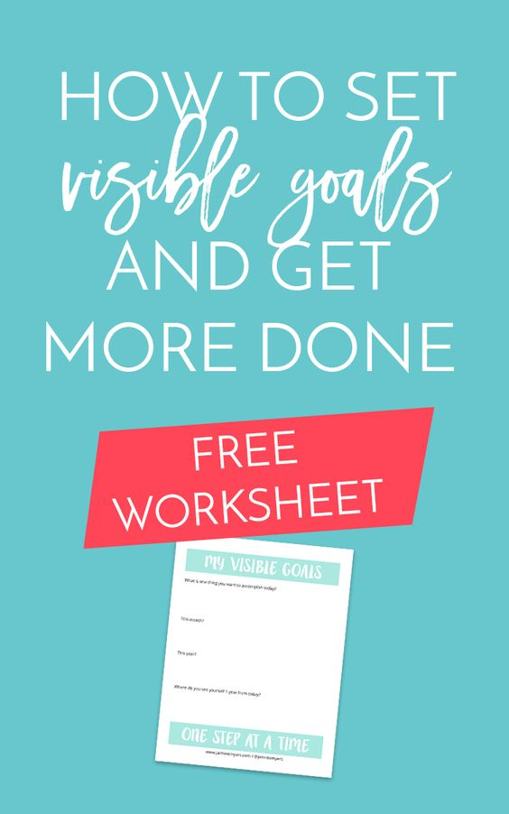 free dreams and goals worksheets