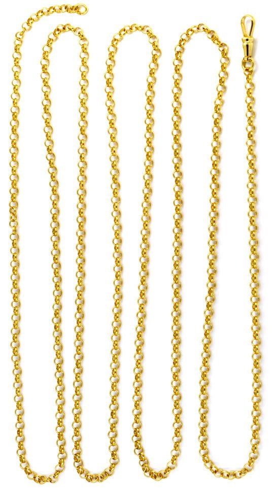 Antike Erbsen Gold Schieberkette 14k Karabiner Luxus K2913