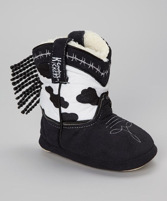 Take a look at this Cowboy Kickers White & Brown Cow Cowboy Boot - Kids on zulily today!