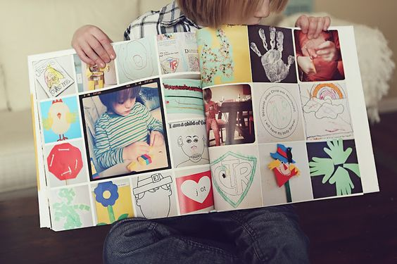 Photo book of children's artwork. love this - never know what to do with all the artwork!