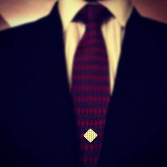 Silver Checkmate Magnetic Tie Pin by Tie Mags #Magnetic, #Pin, #Style, #Tie