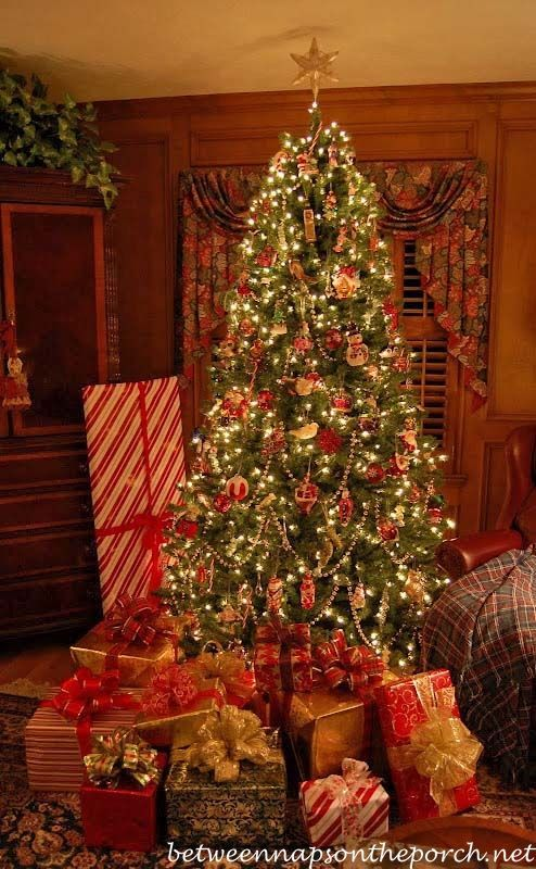 Tree Decorated For Christmas With Presents And Lighting The Christmas Tree With A Remo In 2020 Christmas Lights Christmas Tree With Presents Christmas Light Controller