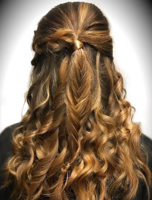 Curly Hair With Fishtail Braids Fish Tail Braid Hair Styles Braided Hairstyles For Wedding