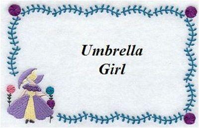 www.BarbaraJApplique.com - Umbrella Girl, $6.00 (http://stores.barbarajapplique.com/umbrella-girl/)