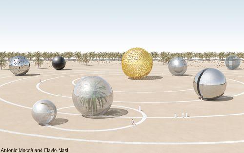 Solar ECO System, Antonio Maccà, Flavio Masi, Land art generator, 2010.