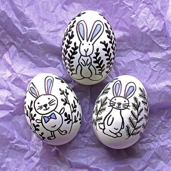 Doodled easter eggs a great alternative to the tradition of dyeing eggs a fun craft for kids - Alternative uses for eggs ...
