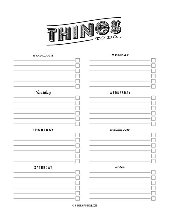 things to do template