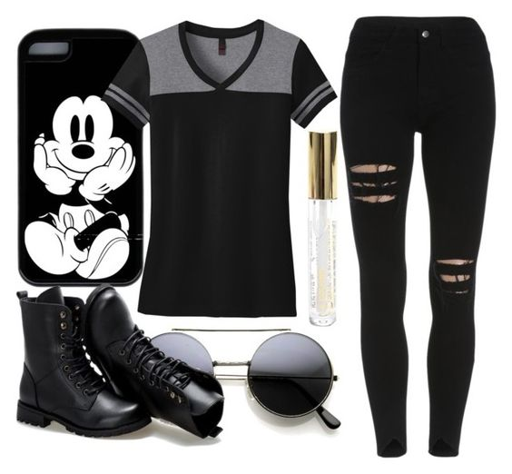 """Black"" by carenza-spence on Polyvore featuring Sunsteps and black_jeans"