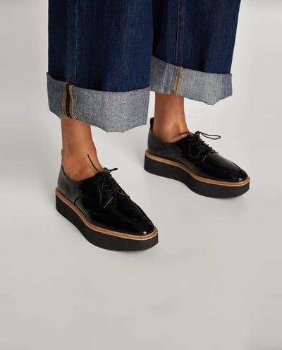 Zdjecie 6 Buty Derby Na Platformie Z Zara Flat Shoes Women Derby Shoes Fashion