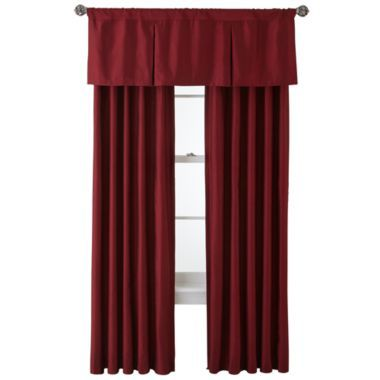 Royal Velvet® Supreme Pinch-Pleat/Back-Tab Window Treatments  found at @JCPenney - rod-pocket lined scalloped valance