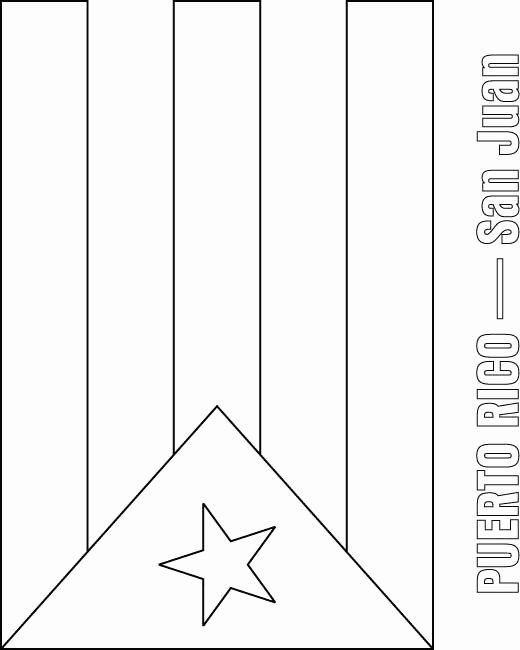 Puerto Rico Flag Coloring Page Beautiful Puerto Rico Flag Coloring
