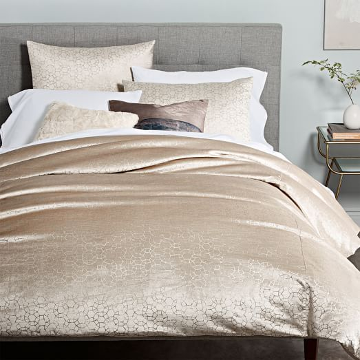 Abstract Bunting Metallic Print Duvet Cover And Pillowcase Set