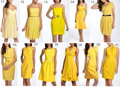 More Yellow dresses