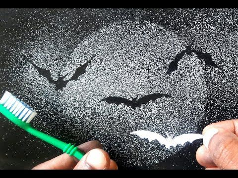 Excellent Spray Painting With Tooth Brush Bats You Should Know Youtube Spray Paint Art Spray Painting Spray Print